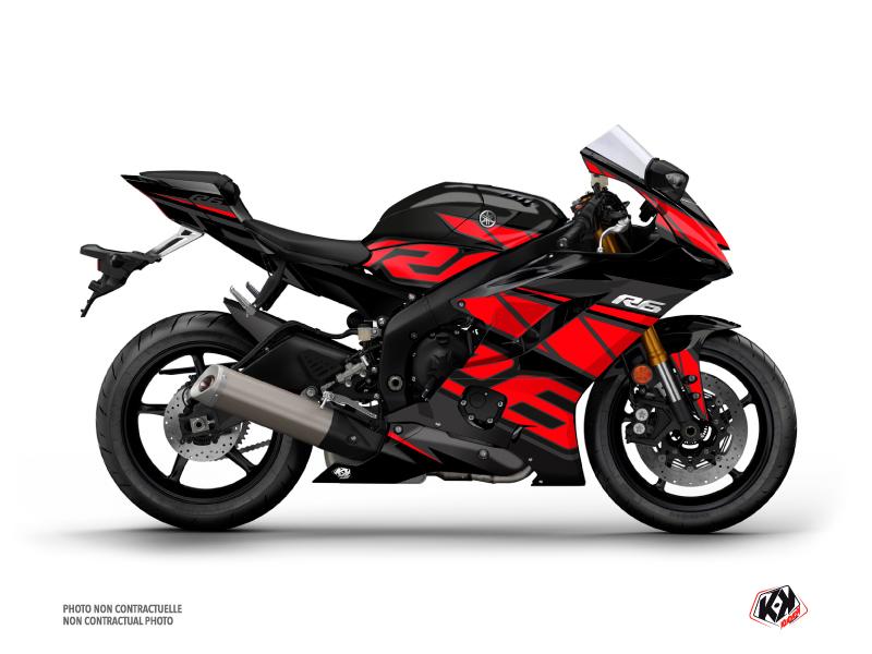 Yamaha R6 Street Bike Replica Graphic Kit Red