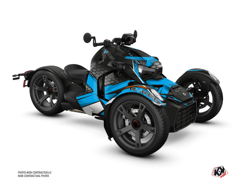 Can Am Ryker 600 900 Roadster Replica Graphic Kit Blue