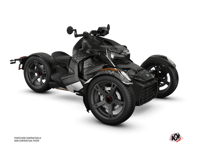 Can Am Ryker 600 900 Roadster Replica Graphic Kit Black Grey