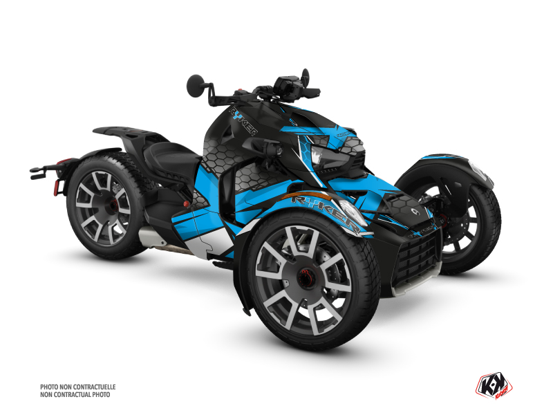 Can Am Ryker 600 900 Rally Edition Roadster Replica Graphic Kit Blue