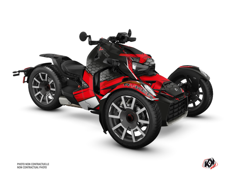 Can Am Ryker 600 900 Rally Edition Roadster Replica Graphic Kit Red