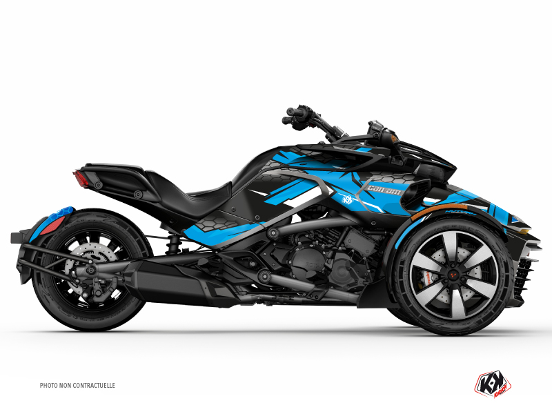 Can Am Spyder F3 Roadster Replica Graphic Kit Blue