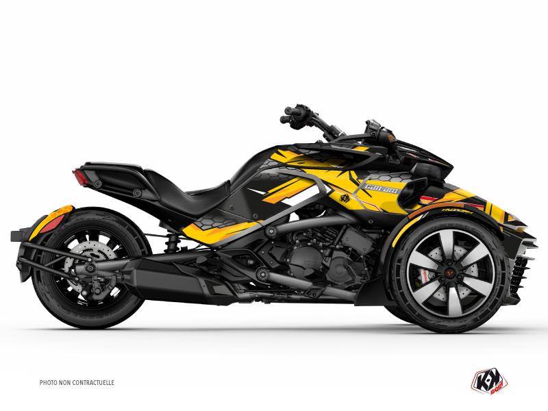 Kit Déco Hybride Replica Can Am Spyder F3 Jaune