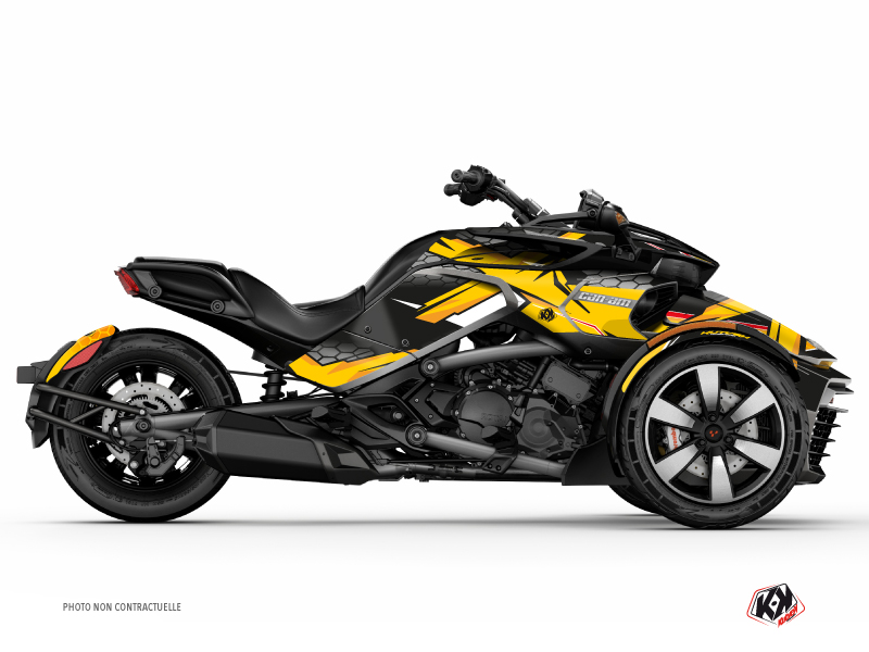 Kit Déco Hybride Replica Can Am Spyder F3 Limited Jaune