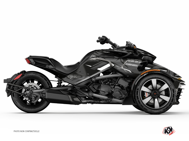 Kit Déco Hybride Replica Can Am Spyder F3 Limited Noir Gris