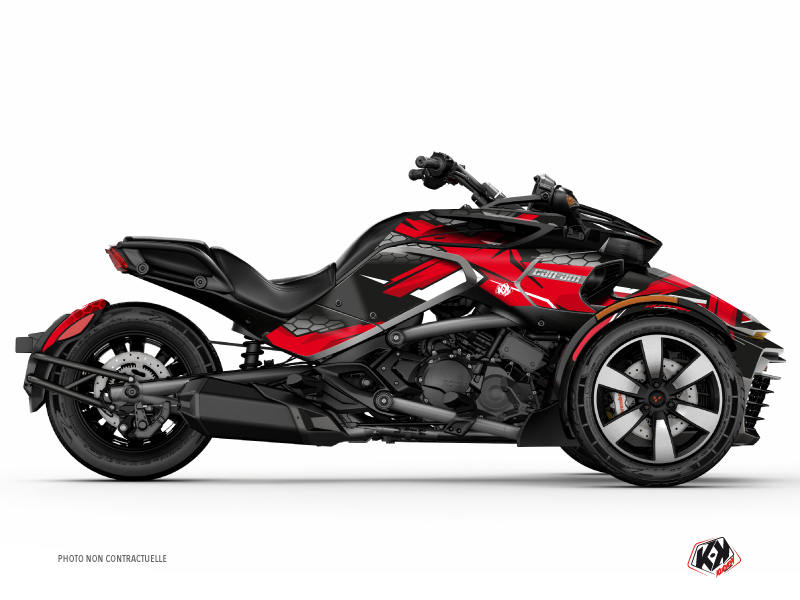 Can Am Spyder F3 Roadster Replica Graphic Kit Red