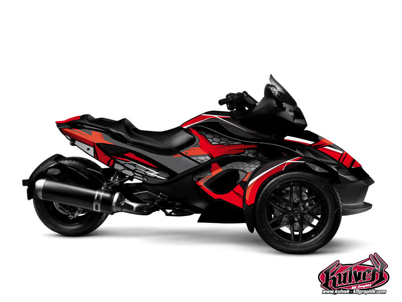 Can Am Spyder RS Roadster Replica Graphic Kit Red