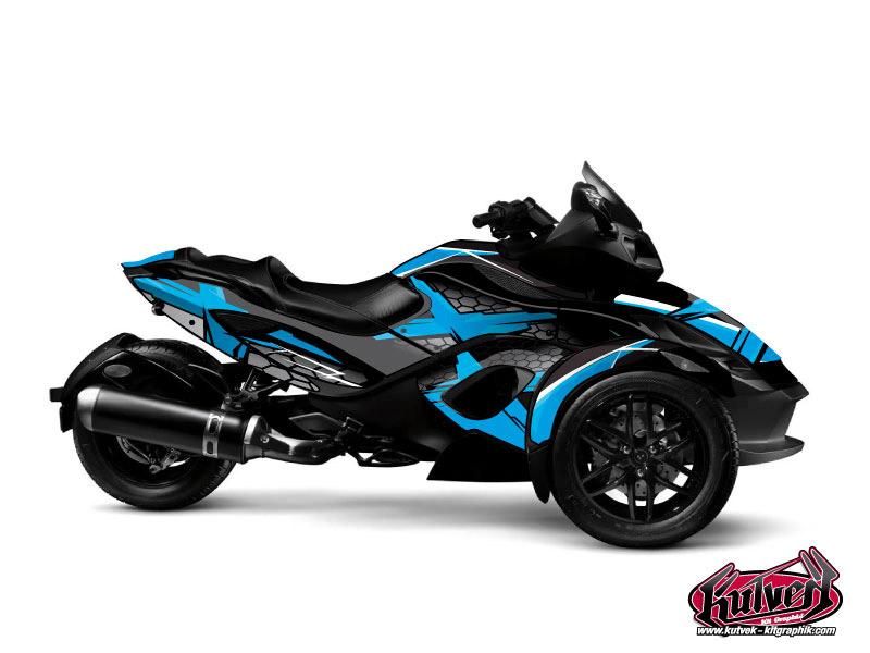 Kit Déco Hybride Replica Can Am Spyder RT Bleu