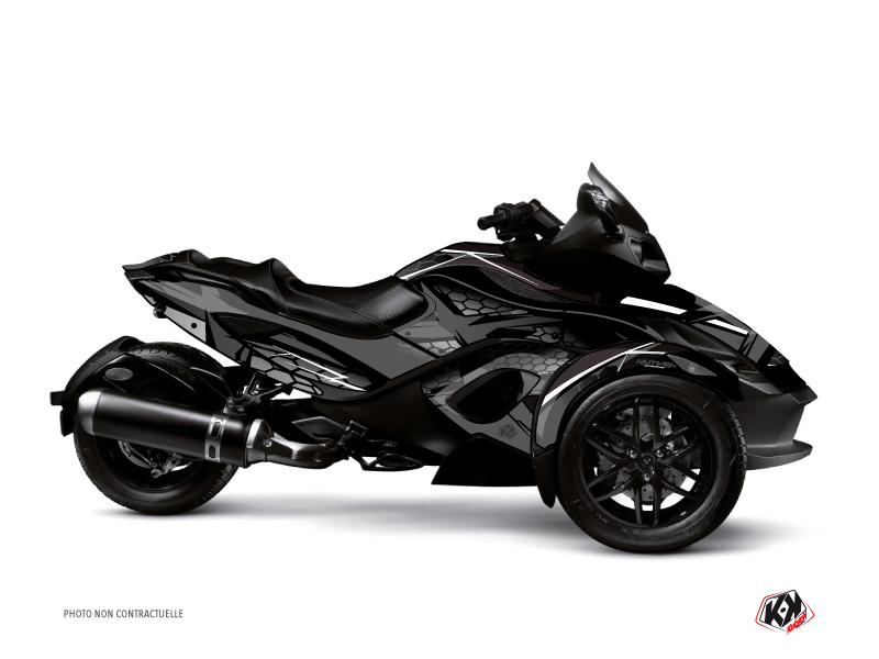 Can Am Spyder RT Roadster Replica Graphic Kit Black