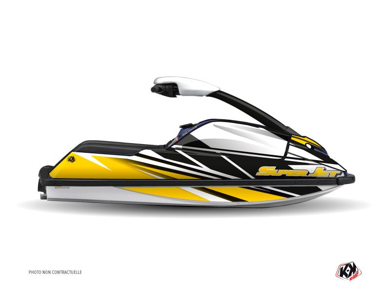 Yamaha Superjet Jet-Ski Replica Graphic Kit Yellow