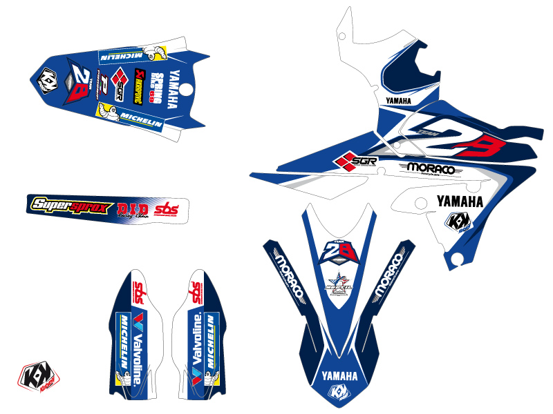 Yamaha 250 YZF Dirt Bike Replica Team 2b Graphic Kit LIGHT