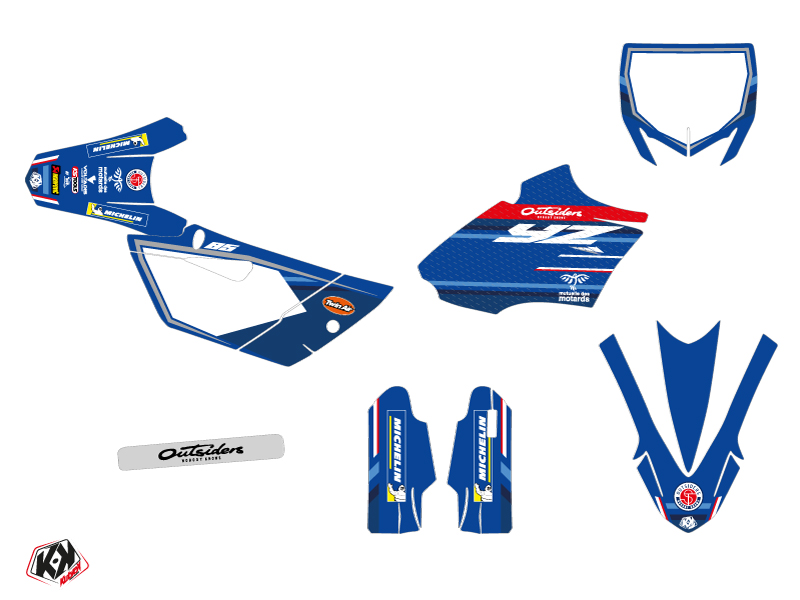 Yamaha 85 YZ Dirt Bike Replica Team Outsiders K21 Graphic Kit