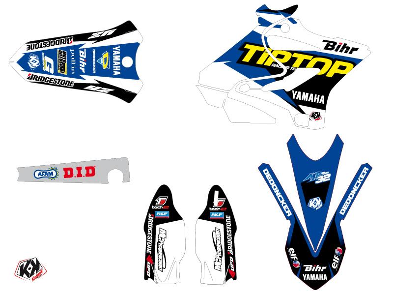 Yamaha 250 YZ Dirt Bike Replica Team Tip Top Graphic Kit LIGHT