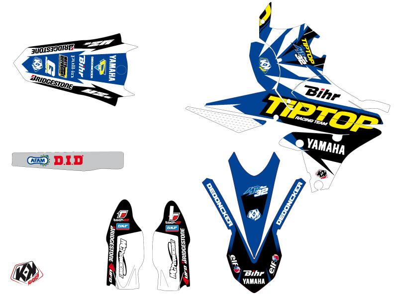 Yamaha 450 YZF Dirt Bike Replica Team Tip Top Graphic Kit LIGHT