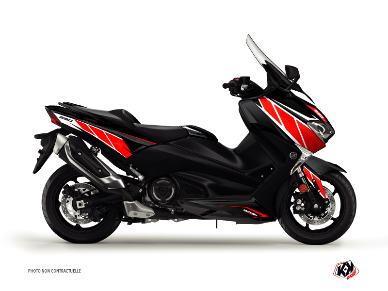 Kit Déco Maxiscooter Replica Yamaha TMAX 530 Rouge Noir