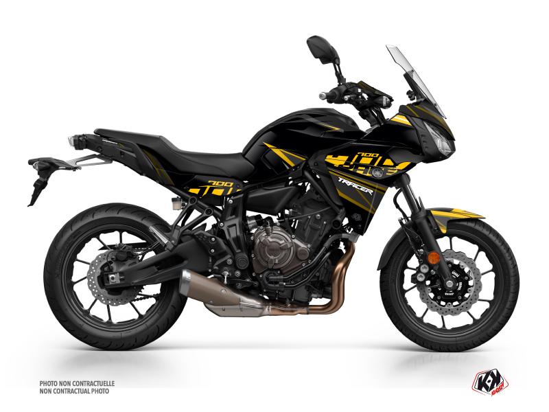Yamaha TRACER 700 Street Bike Replica Graphic Kit Black Yellow