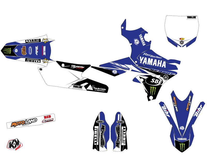 Kit Déco Moto Cross Replica Adrien Van Beveren Yamaha 450 YZF 2016