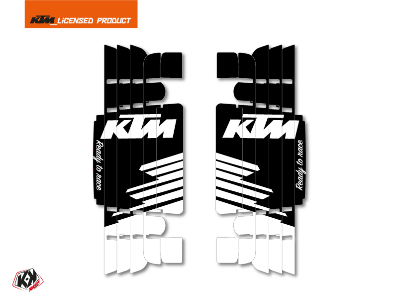 Kit Deco Radiator guards Retro KTM EXC-EXCF 2017 Black