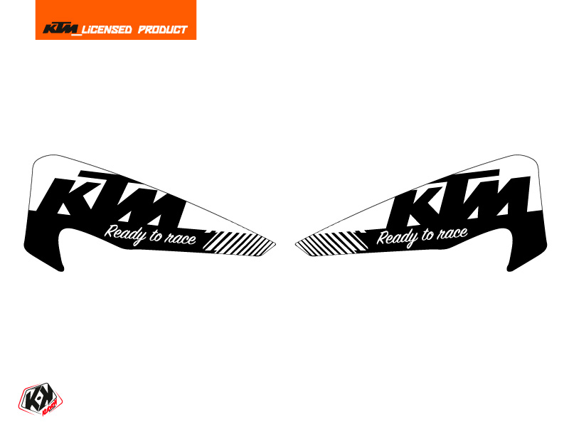 Graphic Kit Hand Guards Stickers Retro Dirt Bike KTM EXC-EXCF Black