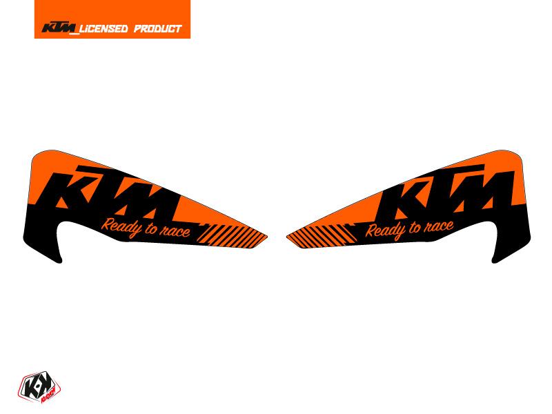 Graphic Kit Hand Guards Stickers Retro Dirt Bike KTM EXC-EXCF Orange