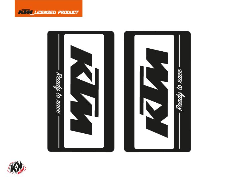 Kit Déco Stickers de fourche Retro Moto Cross KTM SX-SXF EXC-EXCF Noir
