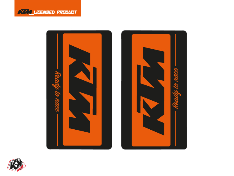 Kit Déco Stickers de fourche Retro Moto Cross KTM SX-SXF EXC-EXCF Orange