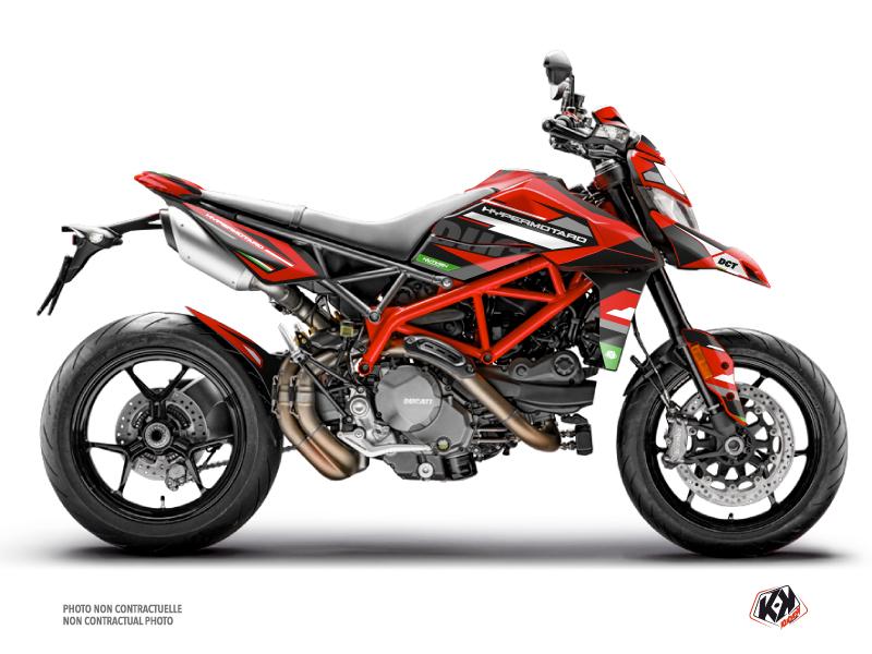 Kit Déco Moto Rezza Ducati Hypermotard Rouge