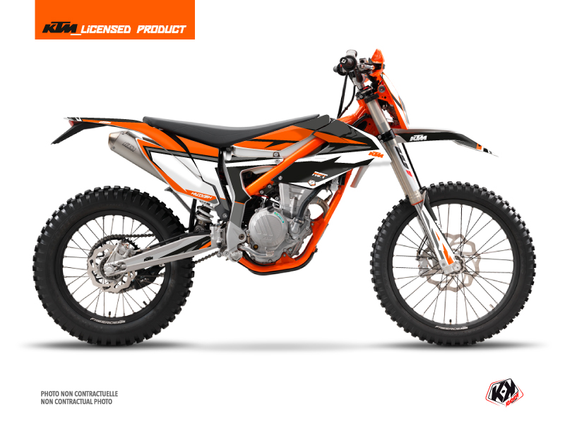 KTM 250 FREERIDE Dirt Bike Rift Graphic Kit Black Orange