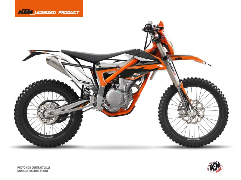 KTM 250 FREERIDE Dirt Bike Rift Graphic Kit Orange Black