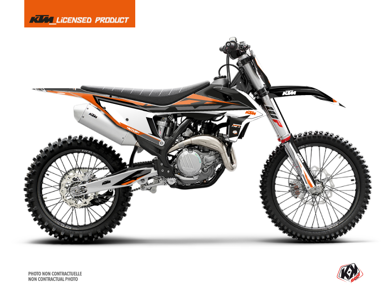 KTM 250 SX Dirt Bike Rift Graphic Kit Black Orange