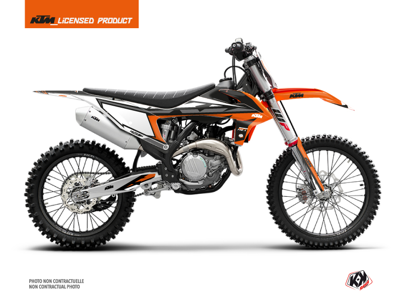 KTM 250 SX Dirt Bike Rift Graphic Kit Orange Black