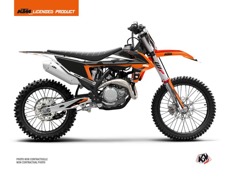 KTM 250 SXF Dirt Bike Rift Graphic Kit Orange Black