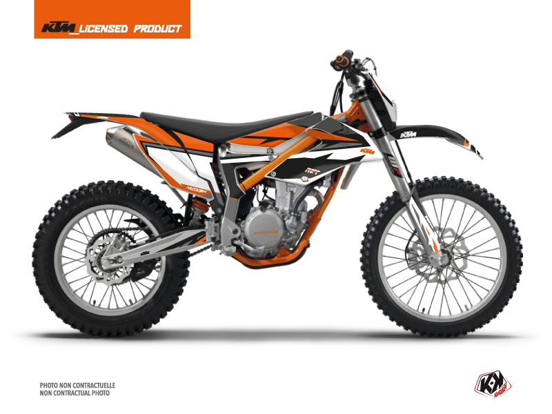KTM 350 FREERIDE Dirt Bike Rift Graphic Kit Black Orange