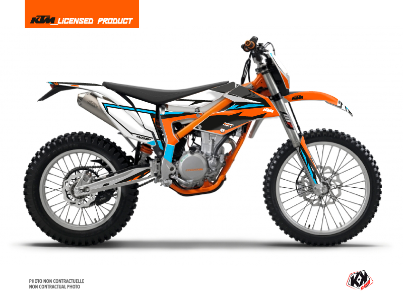 KTM 350 FREERIDE Dirt Bike Rift Graphic Kit Orange Blue