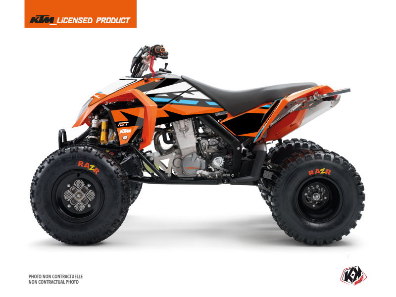 KTM 450-525 SX ATV Rift Graphic Kit Orange Blue