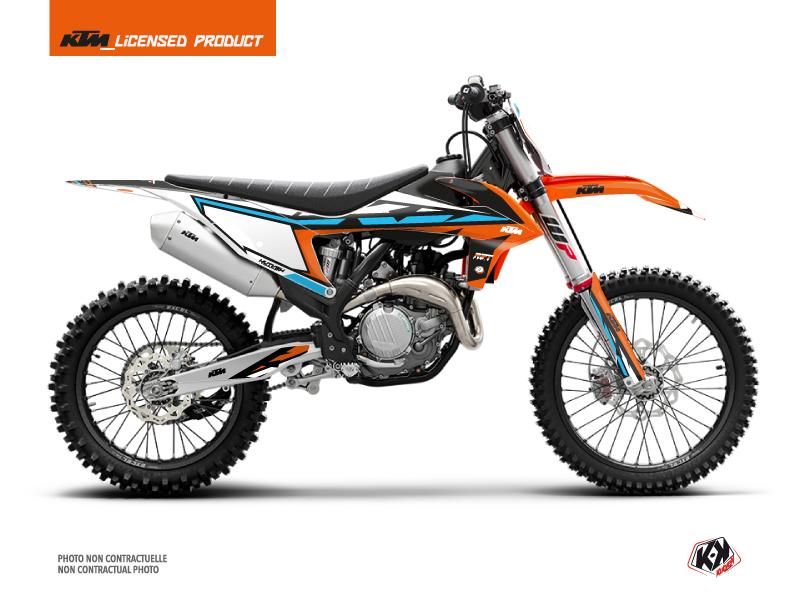 KTM 450 SXF Dirt Bike Rift Graphic Kit Orange Blue