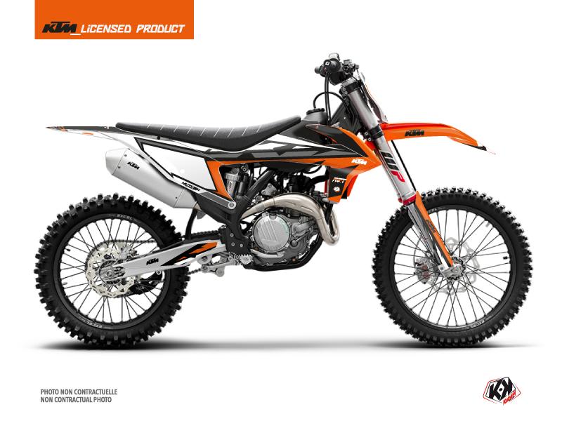 KTM 450 SXF Dirt Bike Rift Graphic Kit Orange Black