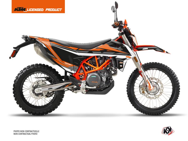 KTM 690 ENDURO R Street Bike Rift Graphic Kit Black Orange