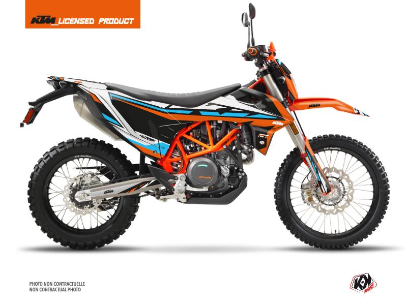 KTM 690 ENDURO R Dirt Bike Rift Graphic Kit Orange Blue