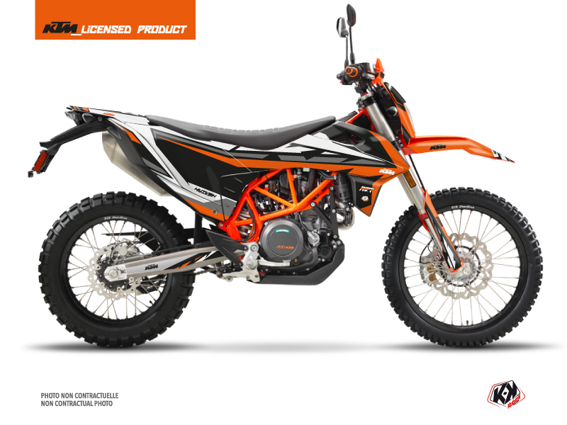 KTM 690 ENDURO R Street Bike Rift Graphic Kit Orange Black