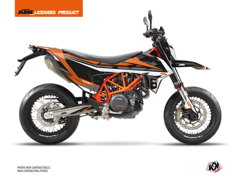 KTM 690 SMC R Dirt Bike Rift Graphic Kit Black Orange