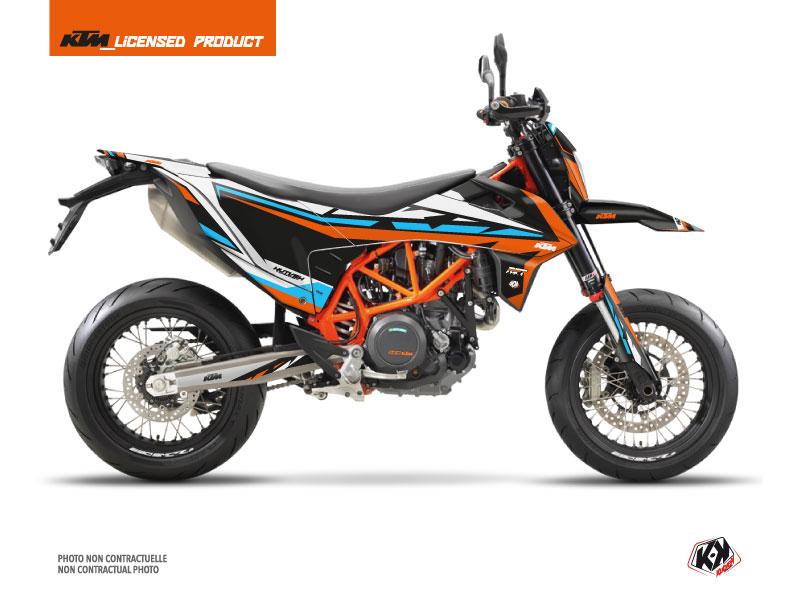 Kit Déco Moto Rift KTM 690 SMC R Orange Bleu
