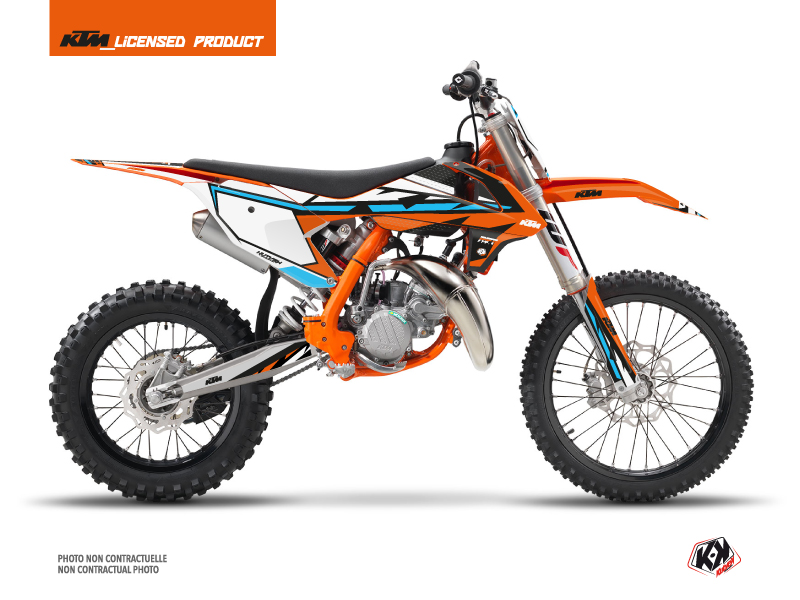 KTM 85 SX Dirt Bike Rift Graphic Kit Orange Blue