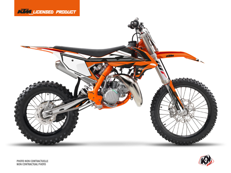 KTM 85 SX Dirt Bike Rift Graphic Kit Orange Black