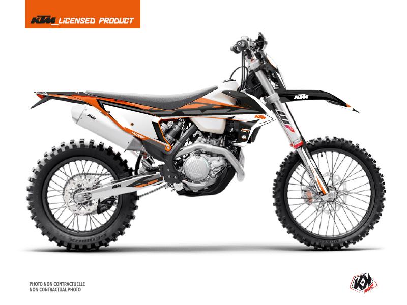 KTM EXC-EXCF Dirt Bike Rift Graphic Kit Black Orange