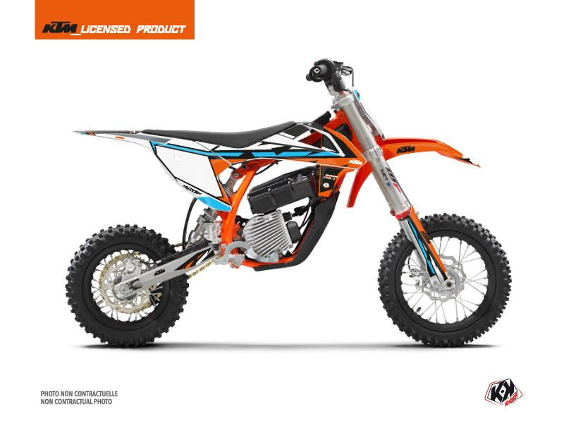 Kit Déco Moto Cross Rift KTM SX-E 5 Orange Bleu