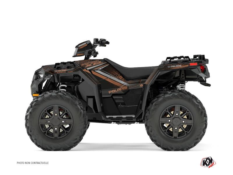 Polaris 1000 Sportsman XP Forest ATV Rock Graphic Kit Brown
