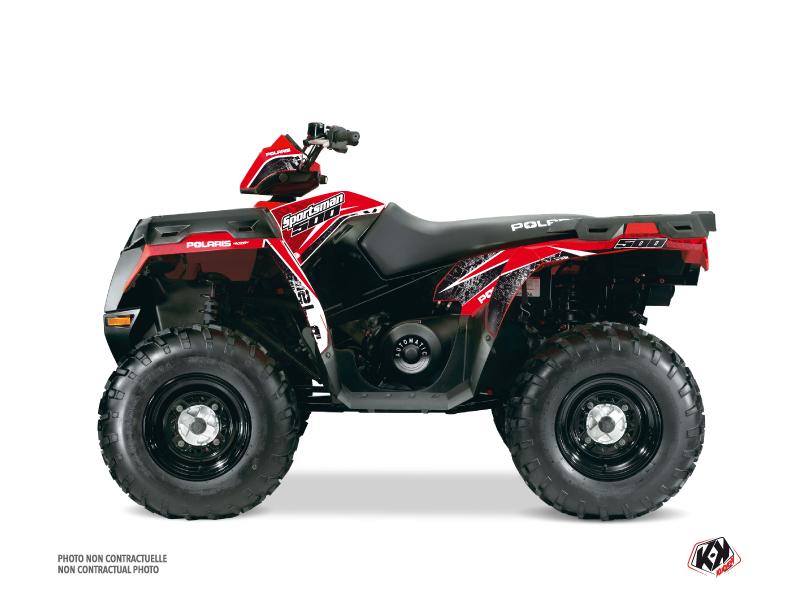 Polaris 500 Sportsman Forest ATV Rock Graphic Kit Red