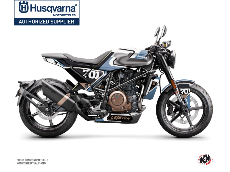 Husqvarna Vitpilen 701 Street Bike Rocket Graphic Kit Blue