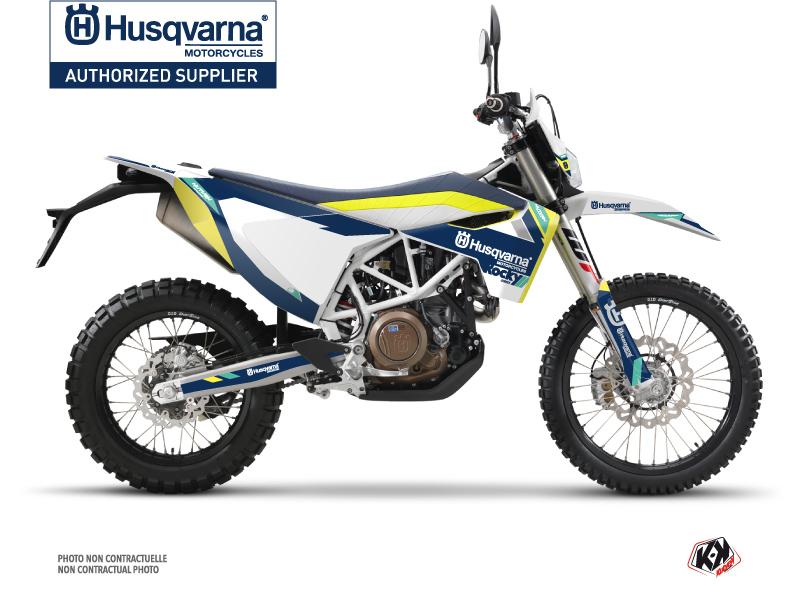 Husqvarna 701 Enduro Dirt Bike Rocky Graphic Kit Blue